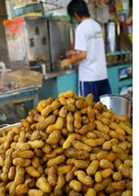 steamed peanuts