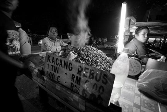 Kacang rebus vendor Kuala Lumpur, Malaysia