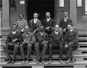 George Washington Carver with his Tuskegee Institute Staff, 1902.