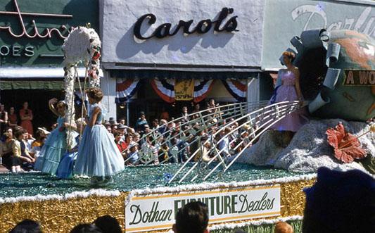 National Peanut Festival Parade 1954 Dothan Alabama Furniture Dealers, photo by Judy Tatom