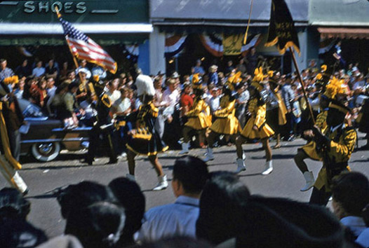 1954 National Peanut Festival Parade Dothan Alabama Marjorettes High School, photo by Judy Tatom