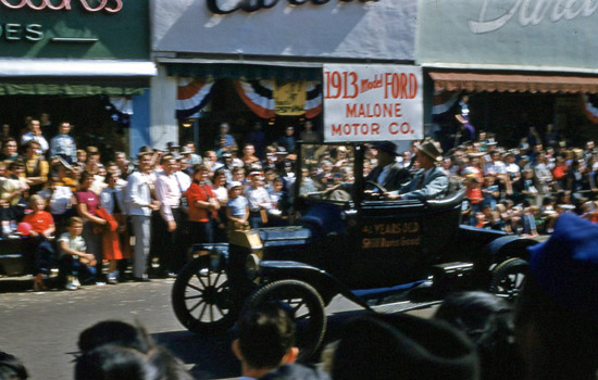 1954 National Peanut Festival Parade Malone Motor Company 1913 Ford, photo by Judy Tatom