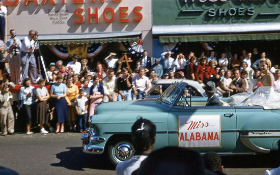 1954 Miss Alabama Dothan National Peanut Festival Parade Float