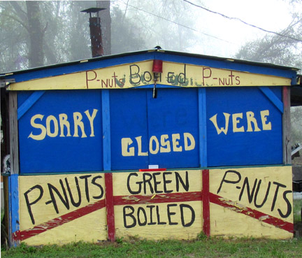 boiled green peanuts stand troy alabama