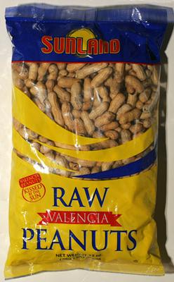Dried Raw Valencia peanuts.