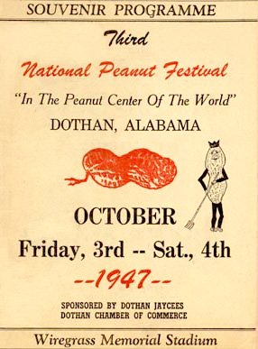 1947 National Peanut Festival Dothan Alabama Houston County souvenir programme 3rd