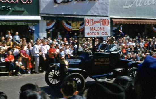 1954 National Peanut Festival Parade Malone Motor Company 1913 Ford, photo by Judy Tatom
