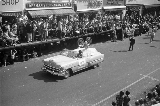 1954 Miss Alabama Dothan National Peanut Festival Parade, photo by Judy Tatom