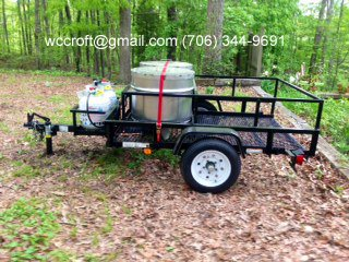Boiled Peanut Trailer, with two 130,000 BTU propane burners